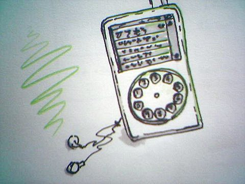 Rotary dial iPod.